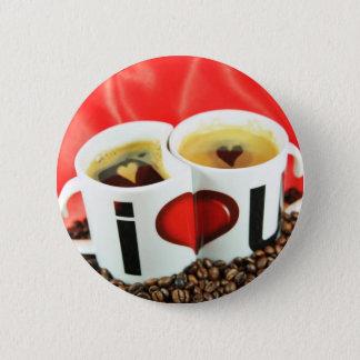 Love coffee design button