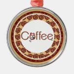 Love Coffee Heart Premium Ornament