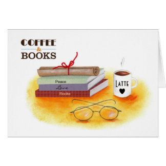 """Love Coffee Love Books Note Cards"" Card"