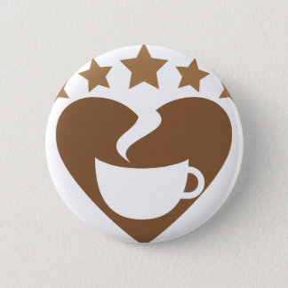 Love coffee pinback button