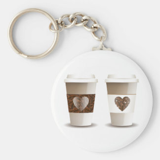 Love Coffee Takeout Cups Keychain