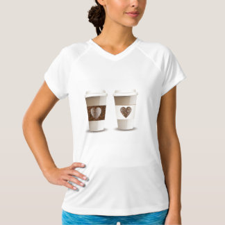 Love Coffee Takeout Cups Womens Active Tee