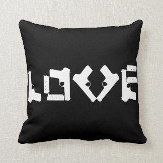 LOVE Collection Anti Guns negative/positive Pillow