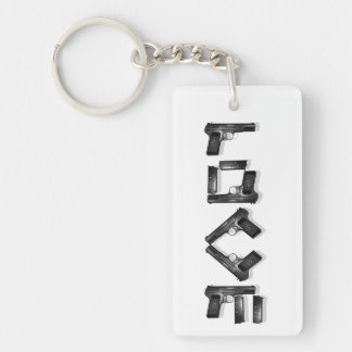 LOVE Collection  BW with shade 2 sided Keychain