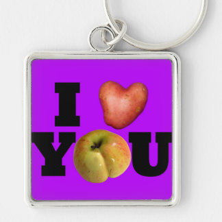 LOVE Collection I Love You Purple Keychain