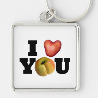 LOVE Collection I Love You White Keychain