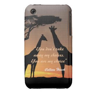Love Colleen Houck quote giraffes nature design iPhone 3 Cases