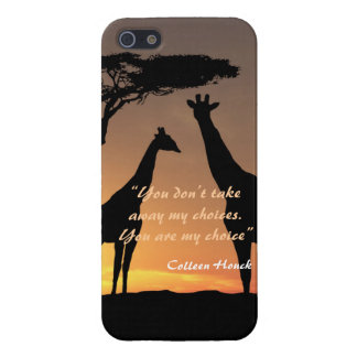 Love Colleen Houck quote giraffes nature design Case For iPhone 5