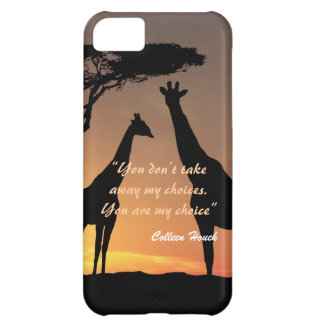 Love Colleen Houck quote giraffes nature design Cover For iPhone 5C