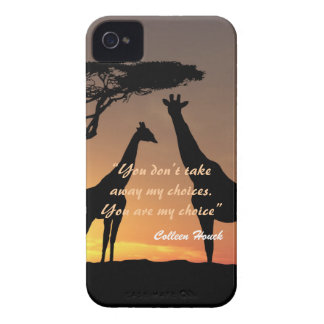 Love Colleen Houck quote giraffes nature design iPhone 4 Case-Mate Case