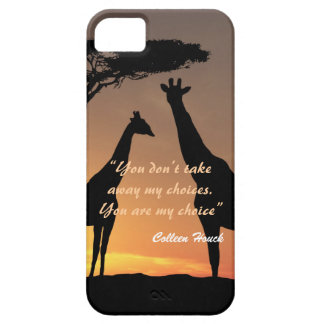 Love Colleen Houck quote giraffes nature design iPhone 5 Cases