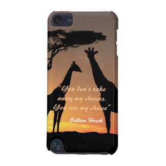 Love Colleen Houck quote giraffes nature design iPod Touch (5th Generation) Case