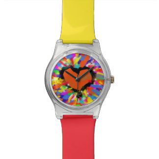 love colorful  heart wristwatches