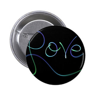 love Colors Black Pinback Button