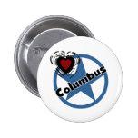 Love Columbus Pinback Button
