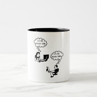@ Love.com Two-Tone Coffee Mug