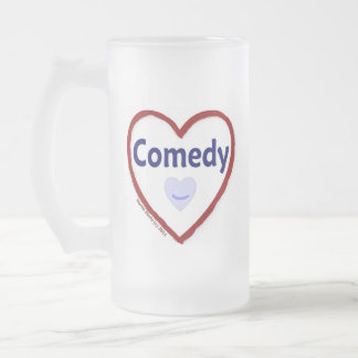 Love Comedy Frosted Glass Beer Mug