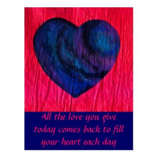 Love Comes Back Postcard
