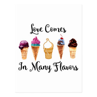Love Comes In Different Flavors Postcard