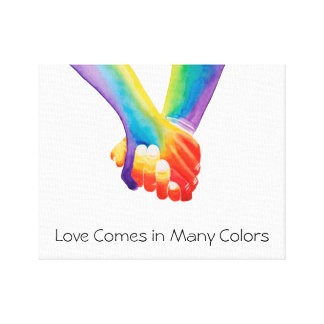 Love Comes in Many Colors Canvas Print