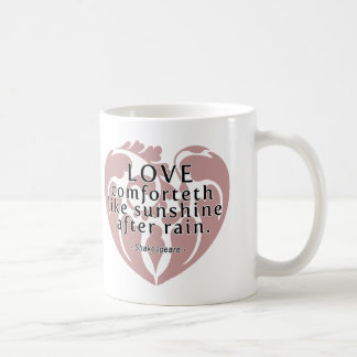 Love Comforteth Like Sunshine - Shakespeare Quote Mug
