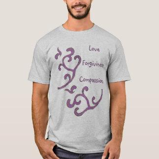 Love-Compassion-Forgiveness Shirt, Organic Pattern T-Shirt