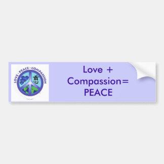 Love + Compassion = PEACE Bumper sticker