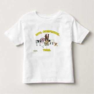 Love. Compassion. Vegan. Toddler T-shirt