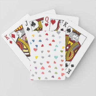 Love Confetti Poker Cards