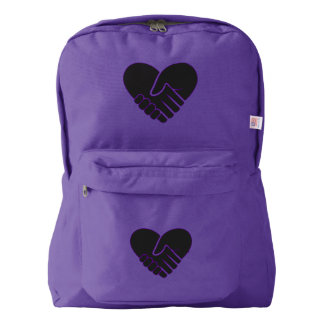 Love Connected black heart American Apparel™ Backpack