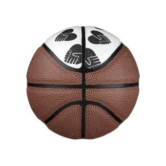 Love Connected black heart Basketball