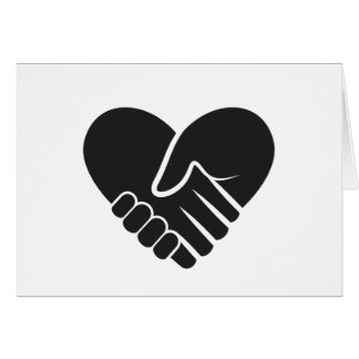 Love Connected black heart Card