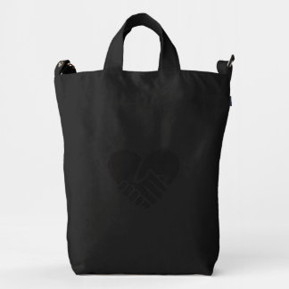Love Connected black heart Duck Bag