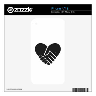 Love Connected black heart iPhone 4 Skin