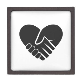 Love Connected black heart Jewelry Box