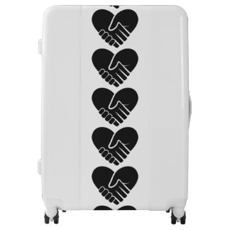 Love Connected black heart Luggage