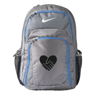Love Connected black heart Nike Backpack