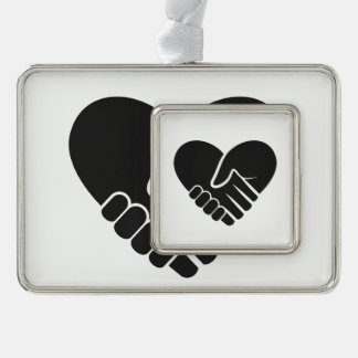 Love Connected black heart Ornament