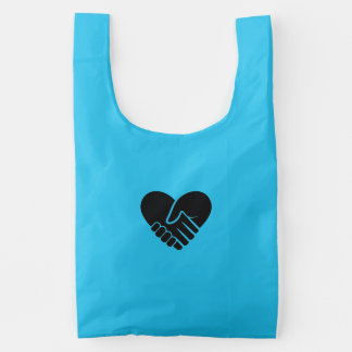 Love Connected black heart Reusable Bag