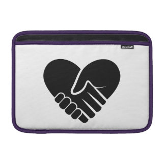 Love Connected black heart Sleeve For MacBook Air
