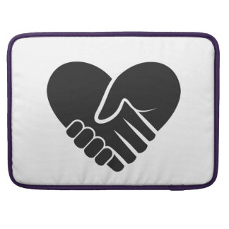 Love Connected black heart Sleeve For MacBooks