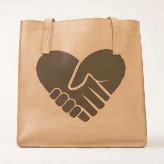 Love Connected black heart Tote