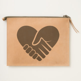 Love Connected black heart Travel Pouch