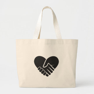 Love Connected black Large Tote Bag