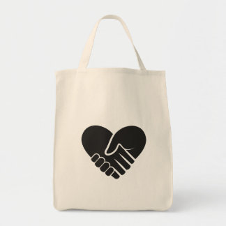 Love Connected black Tote Bag