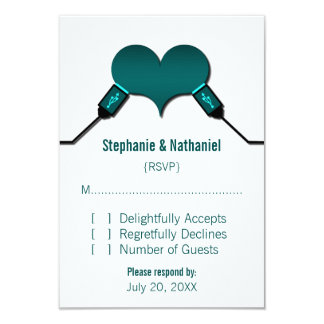 Love Connection USB Response Card, Teal Card