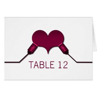 Love Connection USB Table Card, Fuchsia Card