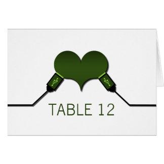Love Connection USB Table Card, Green Card