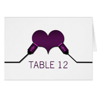 Love Connection USB Table Card, Purple Card
