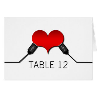 Love Connection USB Table Card, Red Card